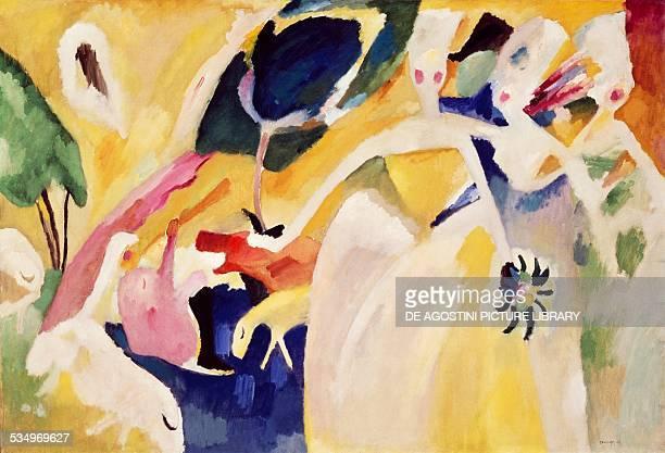 Pastoral by Vassily Kandinsky oil on canvas 106x156 cm Russia 20th century New York Solomon R Guggenheim Museum