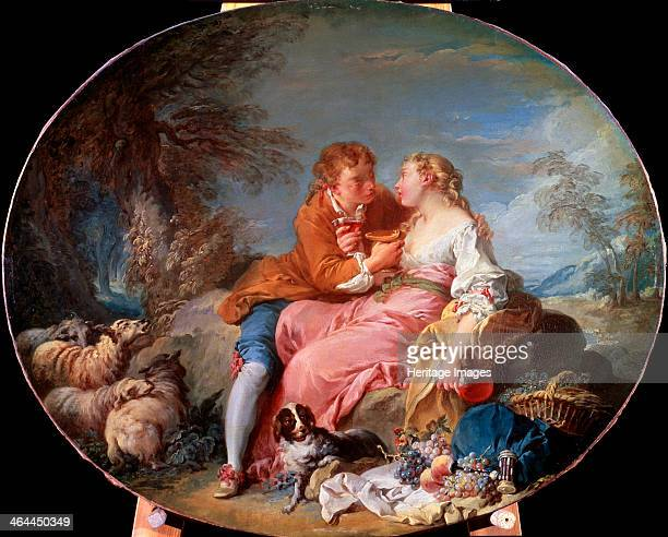 'Pastoral Scene' 1740 Boucher François Found in the collection of the State A Pushkin Museum of Fine Arts Moscow