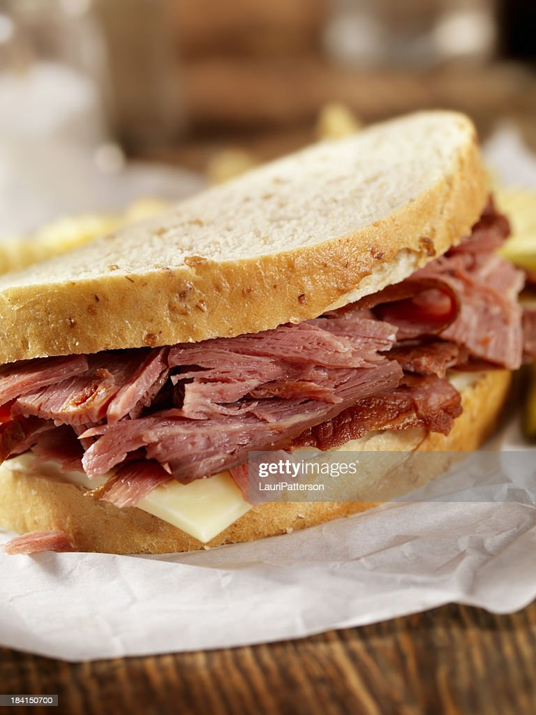 Pastrami Sandwich : Stock Photo