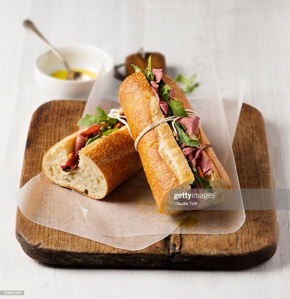 Pastrami Sandwich : Foto de stock