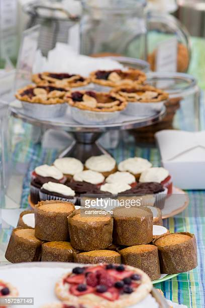 Pastries and cupcakes at a charity fundraiser bake sale