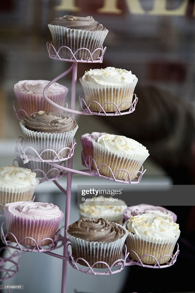 Pastries in an English Pastry Shop : Stock Photo