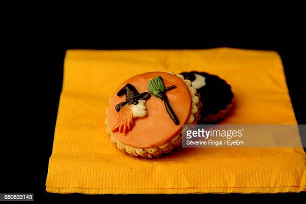Pastries Over Black Background