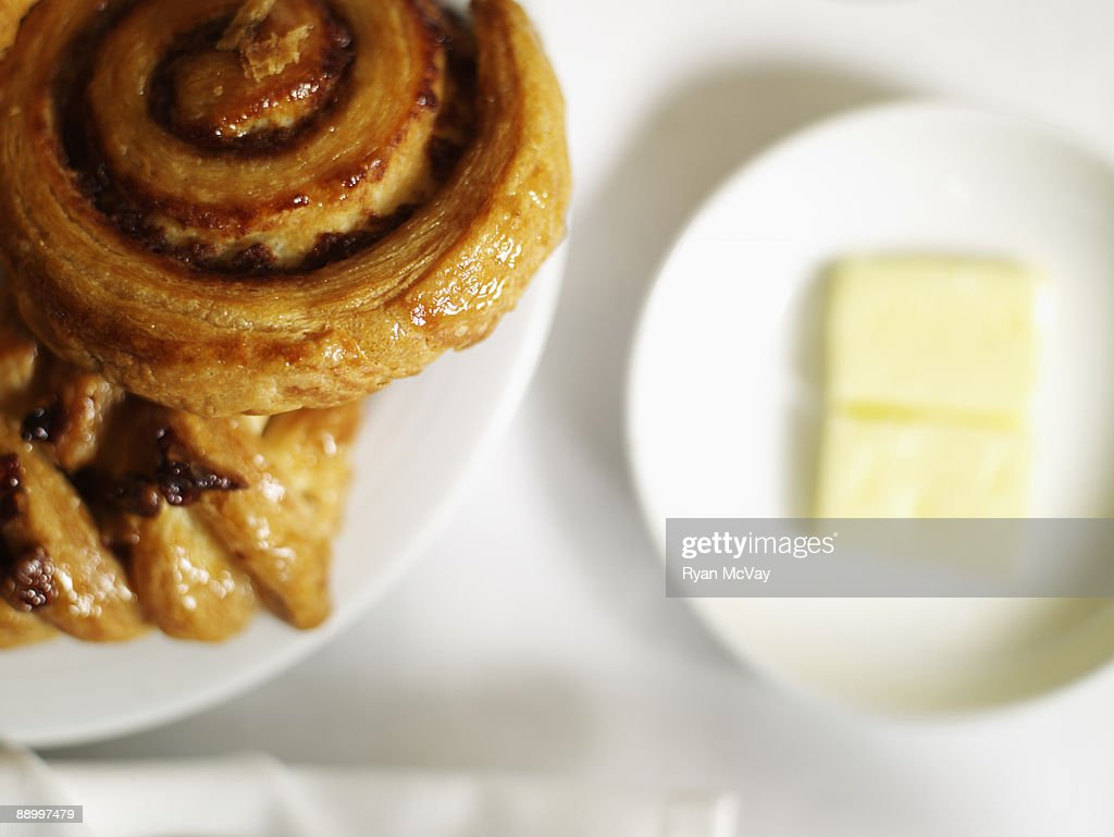 Pastries with butter : Stock Photo