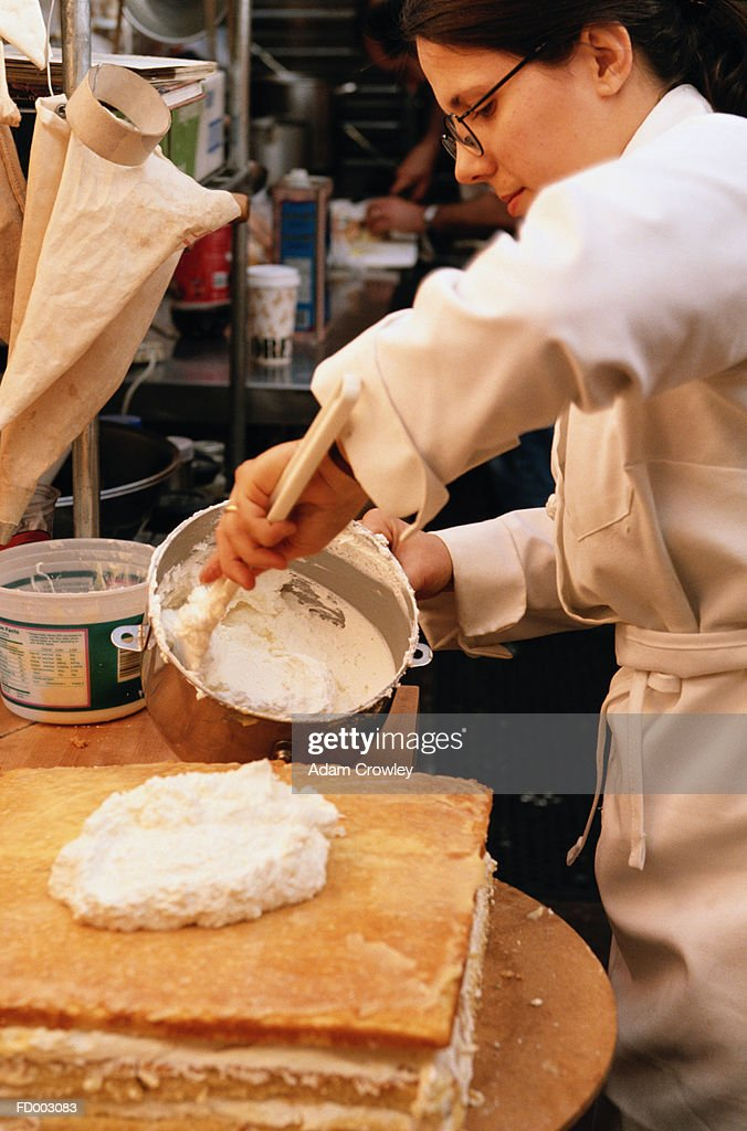 Pastry Chef At Work : Stock Photo