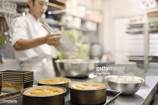 Pastry Chef making Sweets