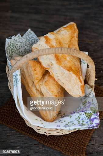 Pastry with cheese : Stock Photo