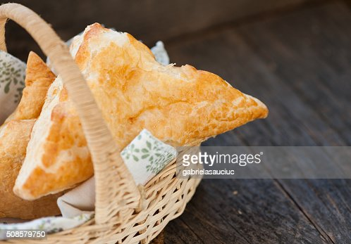 Pastry with cheese : Bildbanksbilder