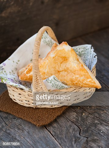 Pastry with cheese : Stockfoto