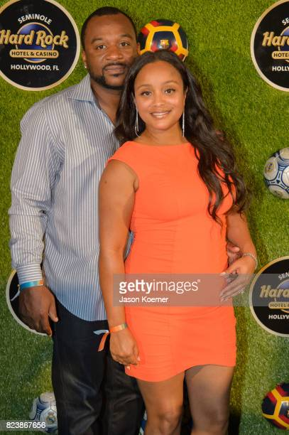 Pat and Michelle Surtain Former FIFA Player of the Year Luis Figo's International Champions Cup official El Clsico Miami VIP Party with special...