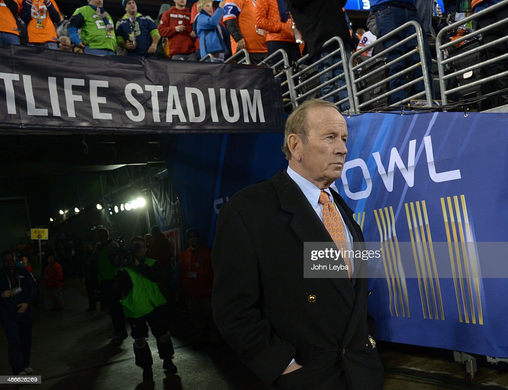 <a gi-track='captionPersonalityLinkClicked' href=/galleries/search?phrase=Pat+Bowlen&family=editorial&specificpeople=749424 ng-click='$event.stopPropagation()'>Pat Bowlen</a> the Chief Executive Officer of the Denver Broncos walks out to the field before the game. The Denver Broncos vs the Seattle Seahawks in Super Bowl XLVIII at MetLife Stadium in East Rutherford, New Jersey Sunday, February 2, 2014.