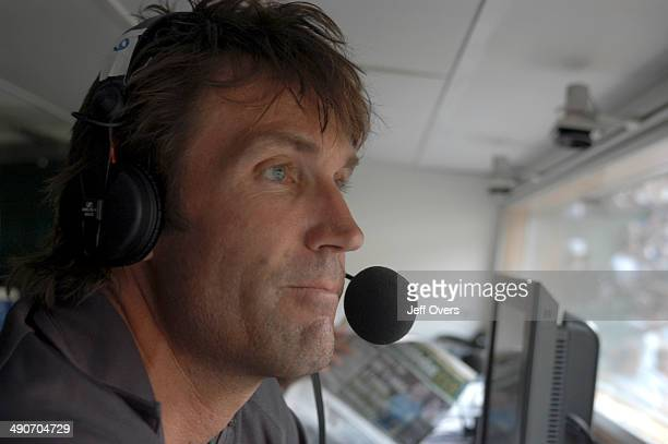 Pat Cash a member of the commentary team at Wimbledon for Radio 5 Live