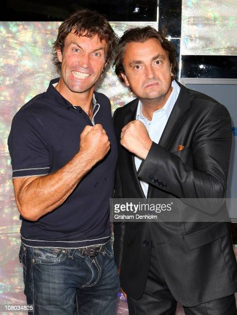 Pat Cash and Henri Leconte attend the ANZ Taste of Tennis at the Grand Hyatt Melbourne on January 14 2011 in Melbourne Australia