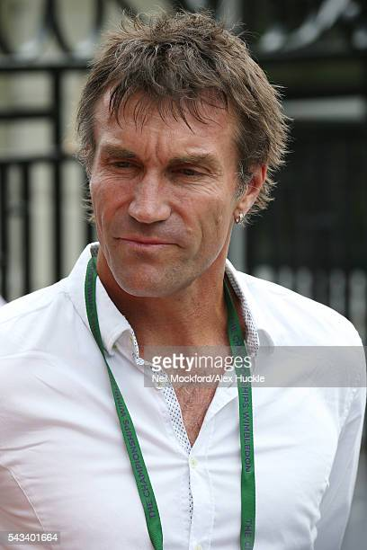 Pat Cash arrives for Day 2 of Wimbledon on June 28 2016 in London England
