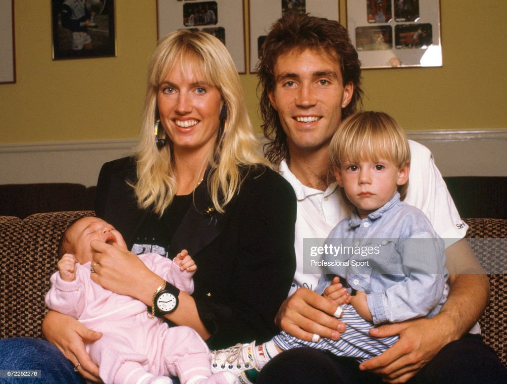 Pat Cash With His Family