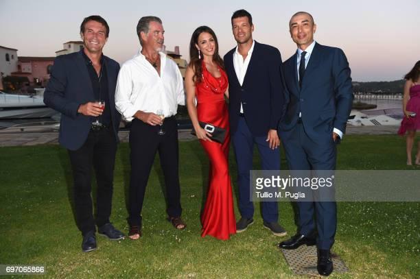 Pat Cash Pierce Brosnan Natacha Tannous Michael Ballack and Roberto Di Matteo attend The Costa Smeralda Invitational Gala Dinner at Cala di Volpe...