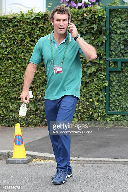 Pat Cash seen arriving at Wimbledon on July 8 2015 in London England