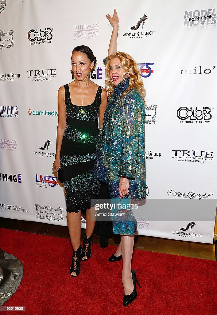 <a gi-track='captionPersonalityLinkClicked' href=/galleries/search?phrase=Pat+Cleveland+-+Model&family=editorial&specificpeople=592076 ng-click='$event.stopPropagation()'>Pat Cleveland</a> and Debbie Dickinson attend the 2nd Annual Women & Fashion FilmFest Red Carpet Opening at Gold Bar on June 3, 2014 in New York City.