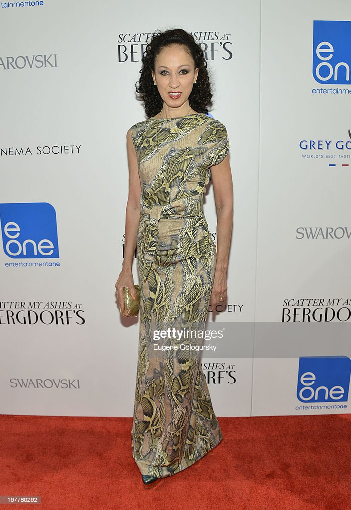 <a gi-track='captionPersonalityLinkClicked' href=/galleries/search?phrase=Pat+Cleveland+-+Model&family=editorial&specificpeople=592076 ng-click='$event.stopPropagation()'>Pat Cleveland</a> attends the Cinema Society with Swarovski & Grey Goose premiere of eOne Entertainment's 'Scatter My Ashes at Bergdorf's' at Florence Gould Hall on April 29, 2013 in New York City.