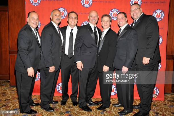 Pat Comunale Fred Leonardo James Rothstein Salvatore J Cassano Alan Foreman Todd Keller and David Gonzahlez attend FDNY Foundation Dinner Honoring...