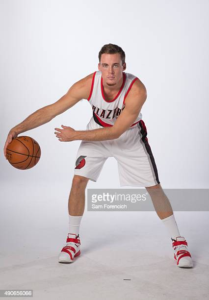 Pat Connaughton of the Portland Trail Blazers poses for photos during the annual Media Day September 28 2015 at the Moda Center in Portland Oregon...