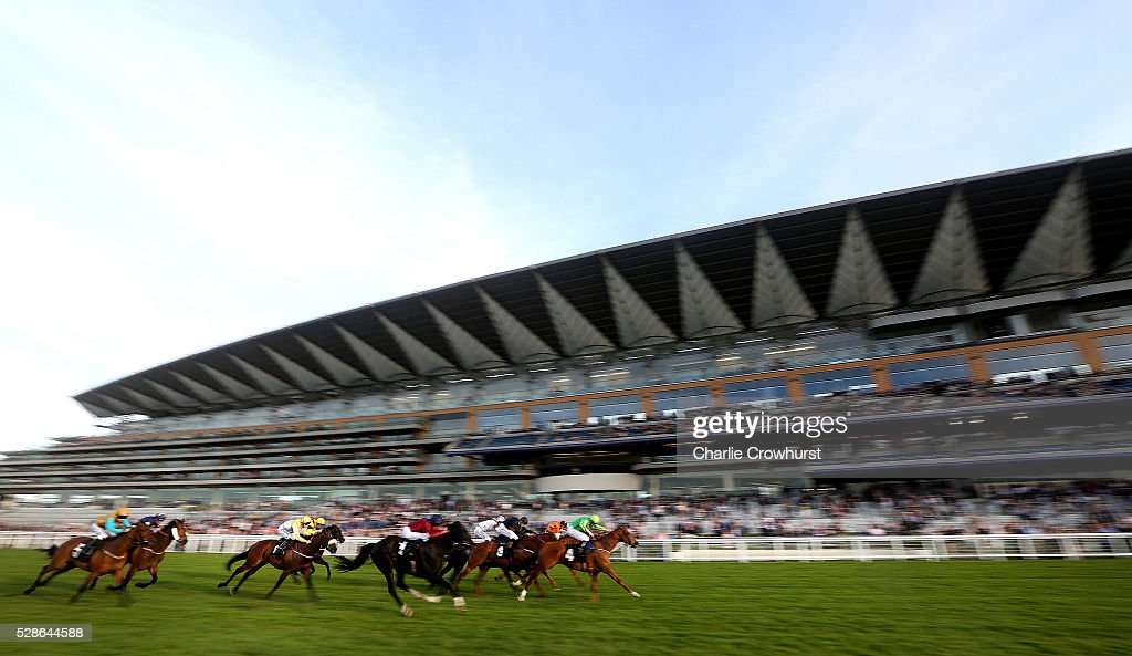 Pat Cosgrave rides Muir Lodge to win The Montfort Handicap Stakes at Ascot racecourse on May 06, 2016 in Ascot, England.