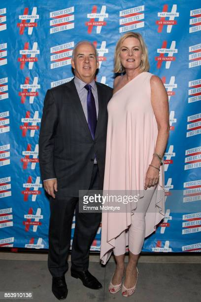 Pat Harris and Carol Welsman arrive at 'Pat Harris' California Democratic US Senate run 2018 kick off' at Catalina Jazz Club Bar Grill on September...