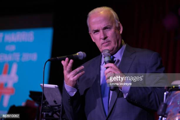 Pat Harris speaks onstage at 'Pat Harris' California Democratic US Senate run 2018 kick off' at Catalina Jazz Club Bar Grill on September 25 2017 in...