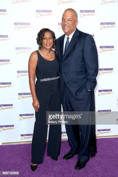 Pat Harvey and Ken Lombard attend the 49th Annual Pioneer of African American Achievement Award dinner at The Beverly Hilton Hotel on December 8 2017...