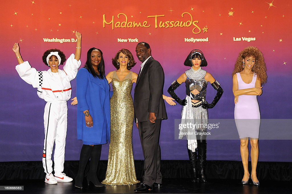 Pat Houston and Gary Houston attend as Madame Tussauds unveils four wax figures of <a gi-track='captionPersonalityLinkClicked' href=/galleries/search?phrase=Whitney+Houston&family=editorial&specificpeople=201541 ng-click='$event.stopPropagation()'>Whitney Houston</a>-- the first time four figures of the same individual have been simultaneously released-- on February 7, 2013 in New York City.