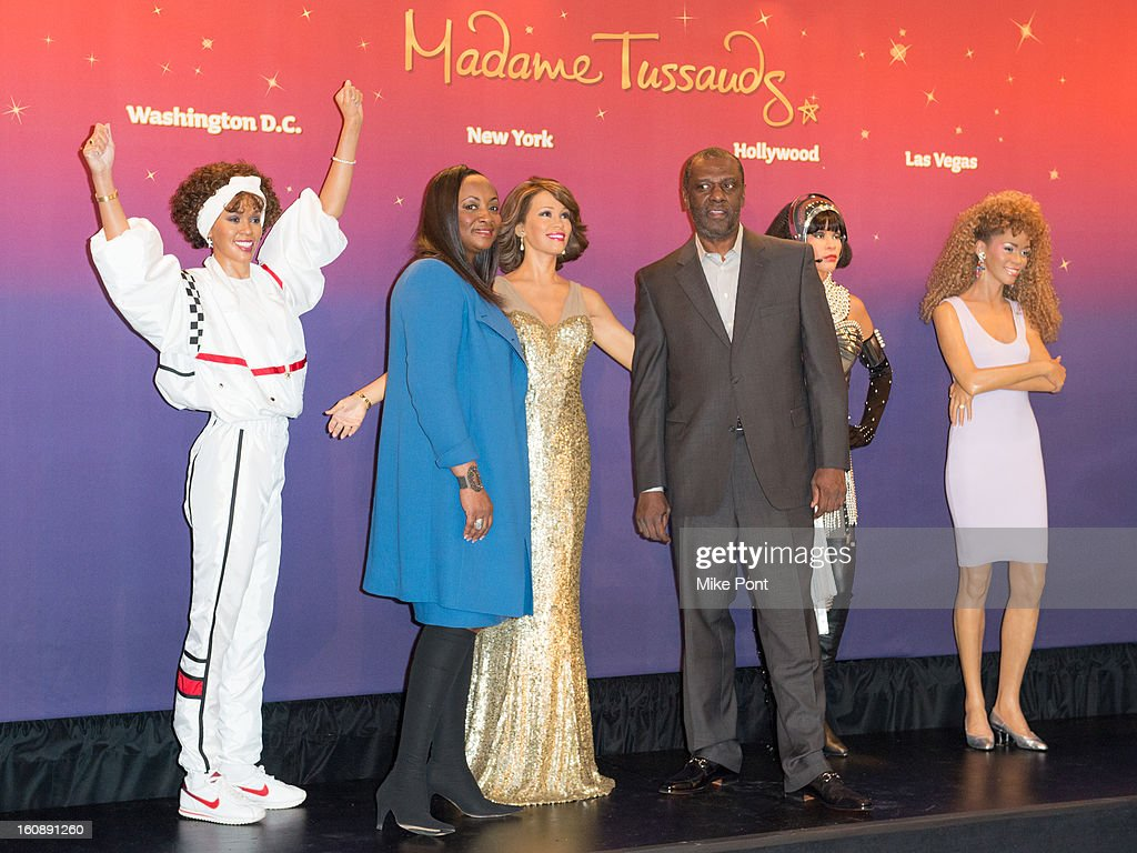 Pat Houston and Gary Houston attend Madame Tussauds Whitney Houston Wax Unveiling at Madame Tussauds on February 7, 2013 in New York City.