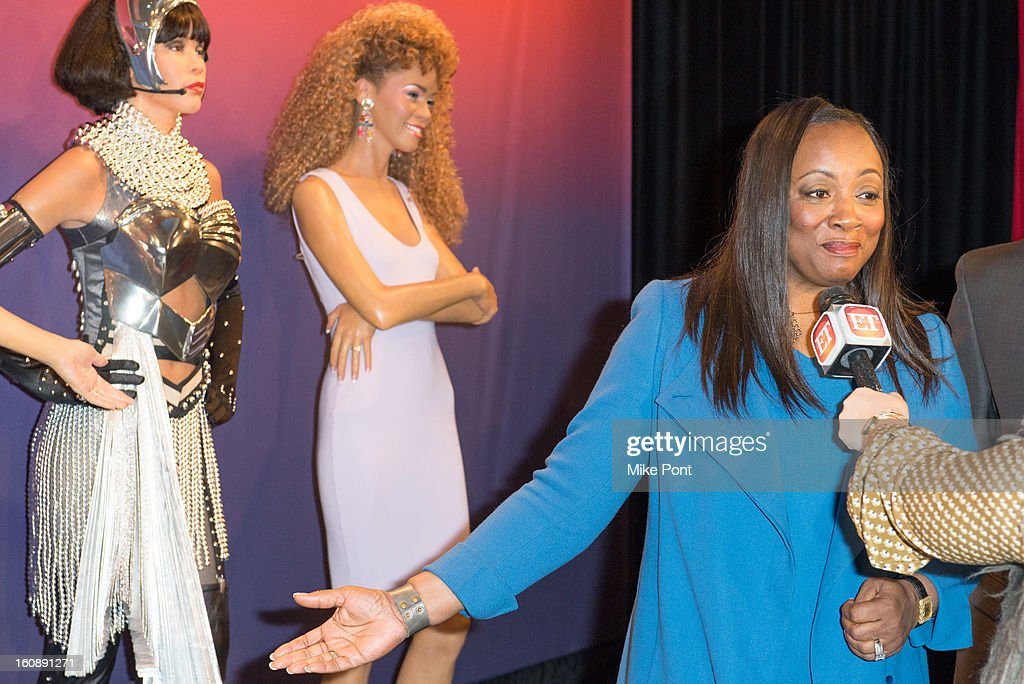 Pat Houston attends Madame Tussauds <a gi-track='captionPersonalityLinkClicked' href=/galleries/search?phrase=Whitney+Houston&family=editorial&specificpeople=201541 ng-click='$event.stopPropagation()'>Whitney Houston</a> Wax Unveiling at Madame Tussauds on February 7, 2013 in New York City.
