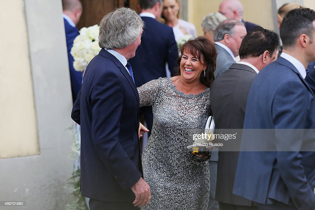 <a gi-track='captionPersonalityLinkClicked' href=/galleries/search?phrase=Pat+Jennings&family=editorial&specificpeople=225090 ng-click='$event.stopPropagation()'>Pat Jennings</a> and his wife attend the wedding of his son <a gi-track='captionPersonalityLinkClicked' href=/galleries/search?phrase=Pat+Jennings&family=editorial&specificpeople=225090 ng-click='$event.stopPropagation()'>Pat Jennings</a> Jr and Sarah Morrisey at Santa Maria in Selva on June 15, 2014 in Montecatini Terme, Italy.