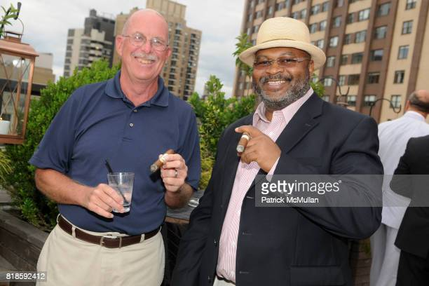 Pat Krimm and Mike Hill attend BILL PALEY Relaunches LA PALINA CIGARS at Empire Hotel on June 17 2010 in New York City