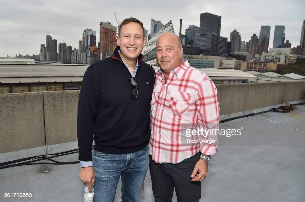 Pat LaFrieda and Andrew Zimmern attend the Food Network Cooking Channel New York City Wine Food Festival Presented By CocaCola CocaCola Backyard BBQ...