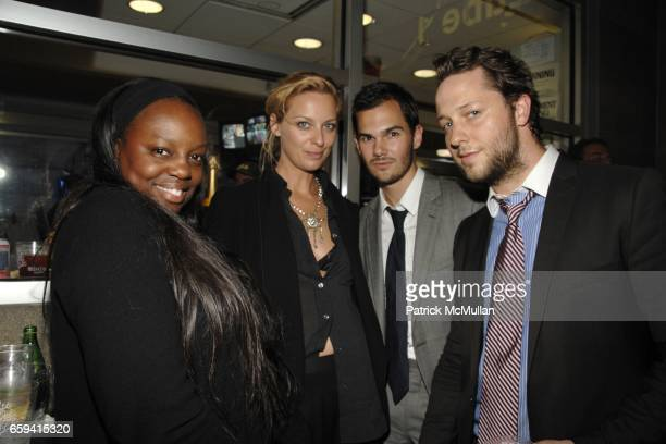 Pat McGrath Jessica Diehl Lyle Maltz and Derek Blasberg attend ALEXANDER WANG After Party at The Gas Station at Milk Studios on September 12 2009 in...