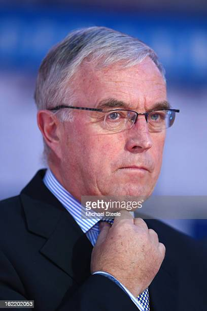 Pat McQuaid President of the Union Cycliste Internationale during day one of the UCI Track World Championships at Minsk Arena on February 20 2013 in...