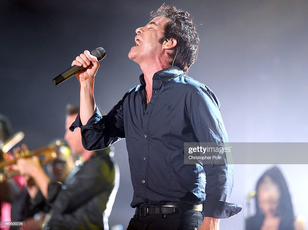 Pat Monahan of Train performs with the Rebirth Brass Band during the VH1 Best Super Bowl Concert Ever at Sugar Mill on February 1, 2013 in New Orleans, Louisiana.