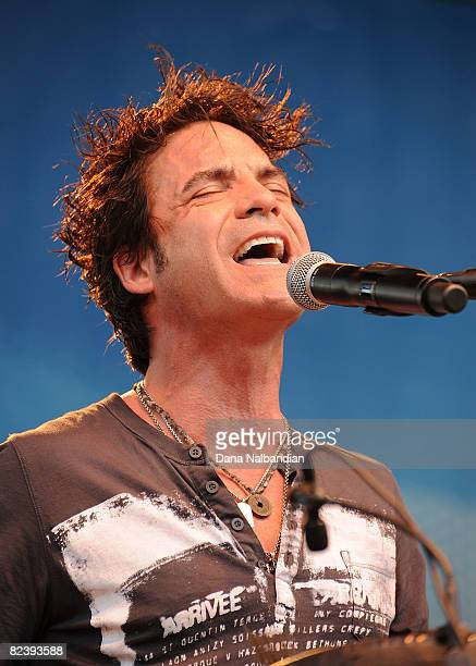 Pat Monahan performs at the Mountain Music Festival at the Marymoor Amphitheater on August 16 2008 in Redmond Washington