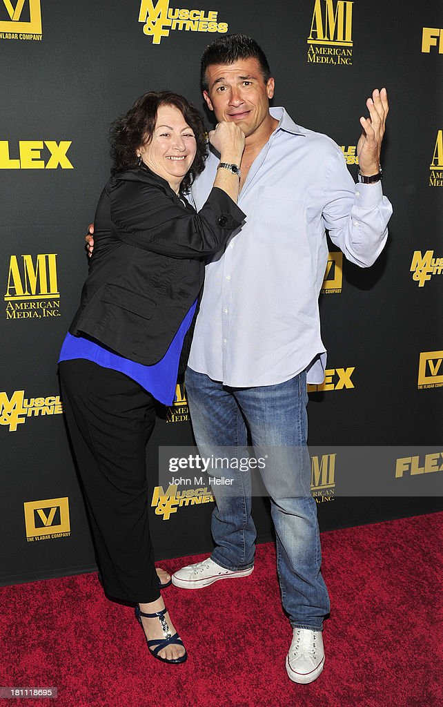 Pat Musico and boxer Danny Musico attend the Los Angeles premiere of 'Generation Iron' at the Chinese 6 Theatres in Hollywood on September 18, 2013 in Hollywood, California.