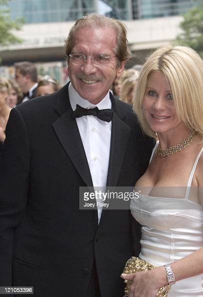 Pat O'Brien and Betsy Stephens during Indianapolis 500 Snakepit Ball Arrivals at Downtown Indianapolis in Indianapolis Indiana United States