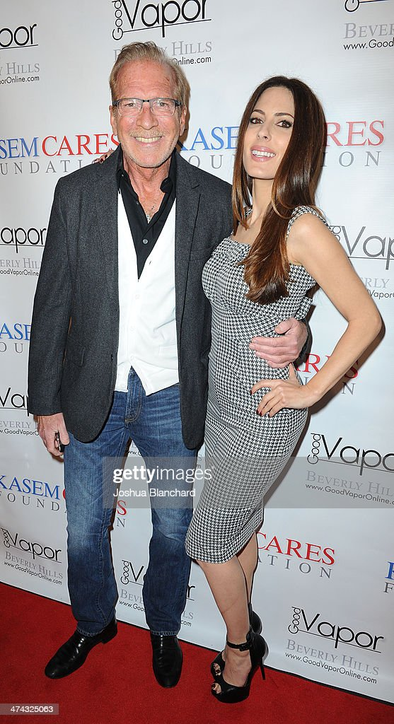Pat O'Brien and Kerri Kasem arrive at the Kasem Cares Foundation's 1st Annual Fundraiser on February 22 2014 in Beverly Hills California