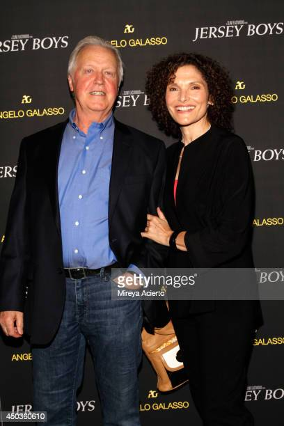 Pat O'Connor and Mary Elizabeth Mastrantonio attend the 'Jersey Boys' Special Screening dinner at Angelo Galasso House on June 9 2014 in New York City