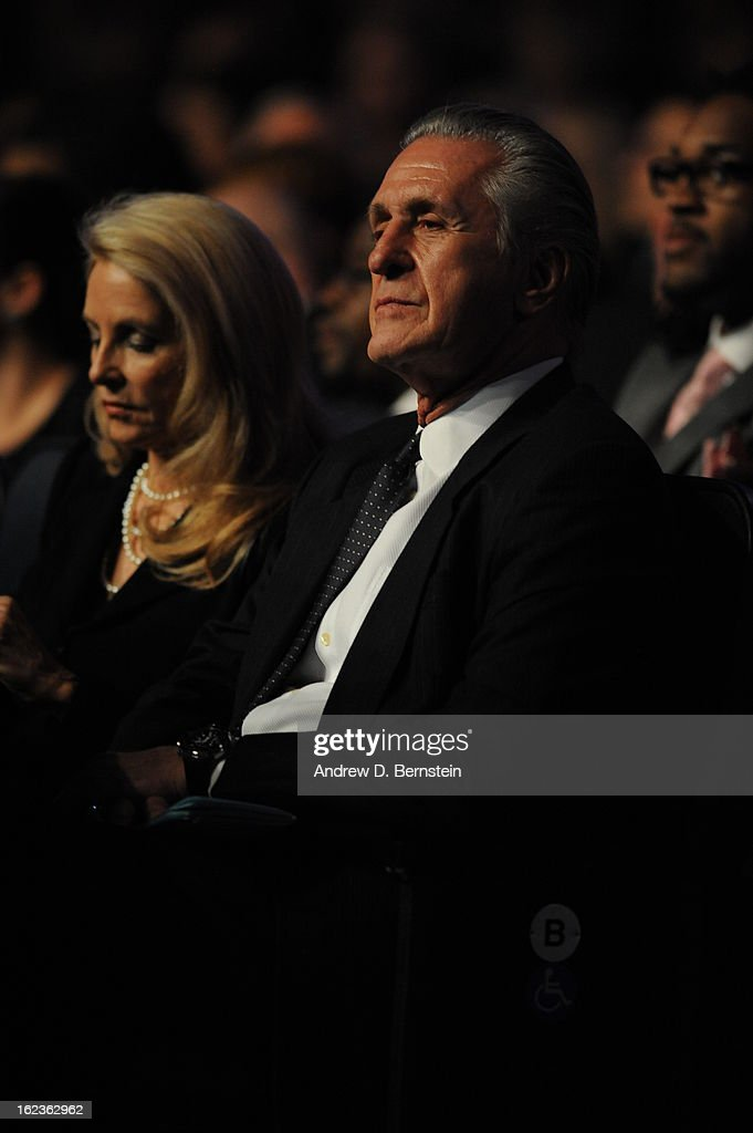 Pat Riley attends the memorial service for Los Angeles Lakers Owner Dr. Jerry Buss at Nokia Theatre LA LIVE on February 21, 2013 in Los Angeles, California.