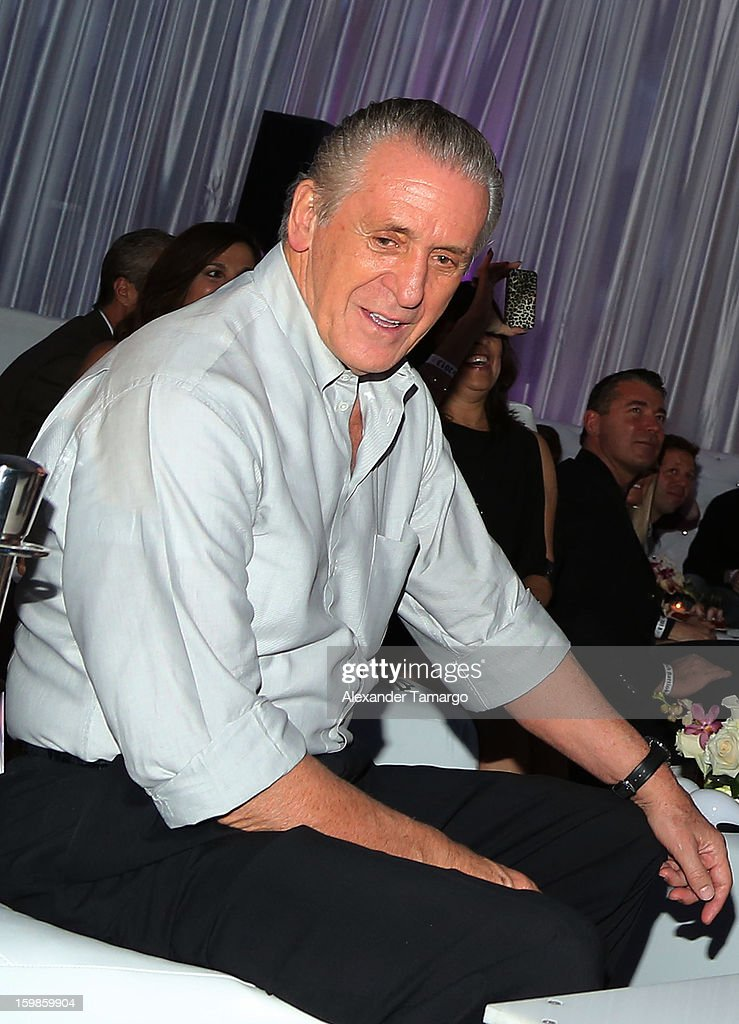 <a gi-track='captionPersonalityLinkClicked' href=/galleries/search?phrase=Pat+Riley&family=editorial&specificpeople=209246 ng-click='$event.stopPropagation()'>Pat Riley</a> attends the Second Annual 'South Beach Battioke' to Benefit The Battier Take Charge Foundation at Eden Roc Hotel on January 21, 2013 in Miami Beach, Florida.