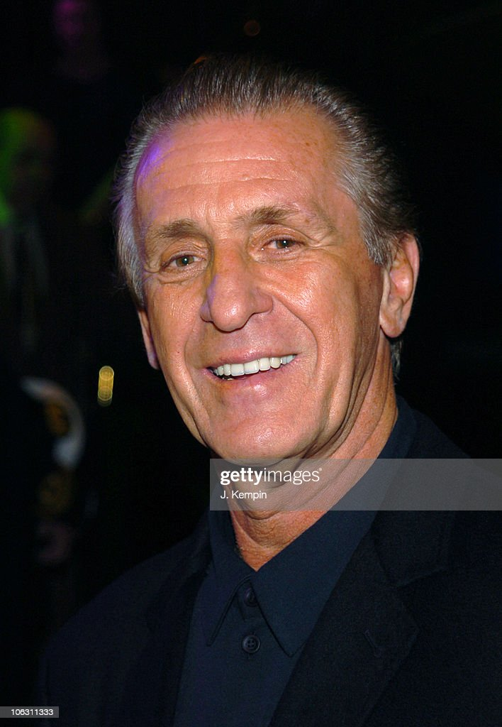 Pat Riley during MS Noordam Maiden Voyage Ceremony at Pier 90 in New York City, New York, United States.