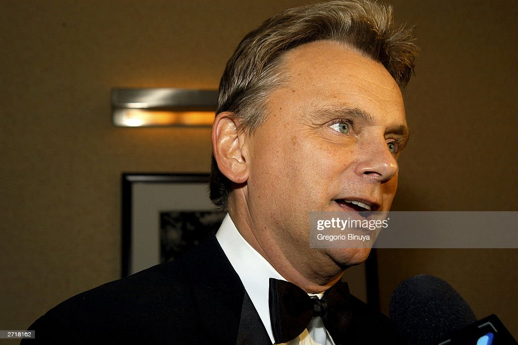 Pat Sajak attends the 13th Annual Broadcasting & Cable Magazine Hall of Fame November 10, 2003, in New York. Sajak is a new inductee at the gala.