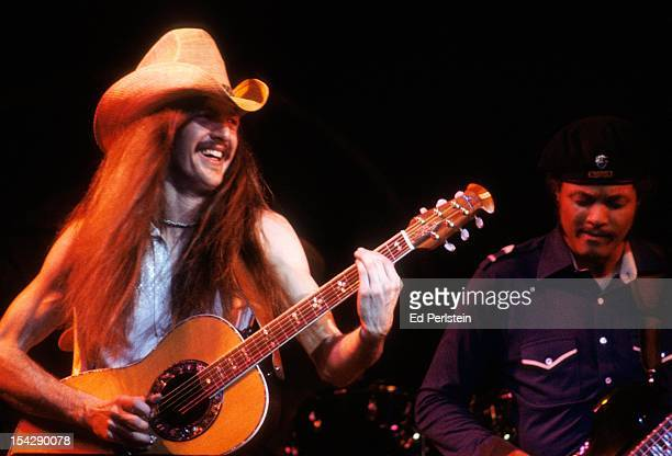 Pat Simmons and Tiran Porter of the Doobie Brothers perform live at the Oakland Coliseum on December 30 1978 in Oakland California