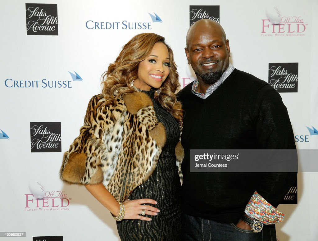 Pat Smith and Former NFL player and NFL Hall of Fame member Emmitt Smith attend a cocktail reception hosted by Saks Fifth Avenue And Off The Field...