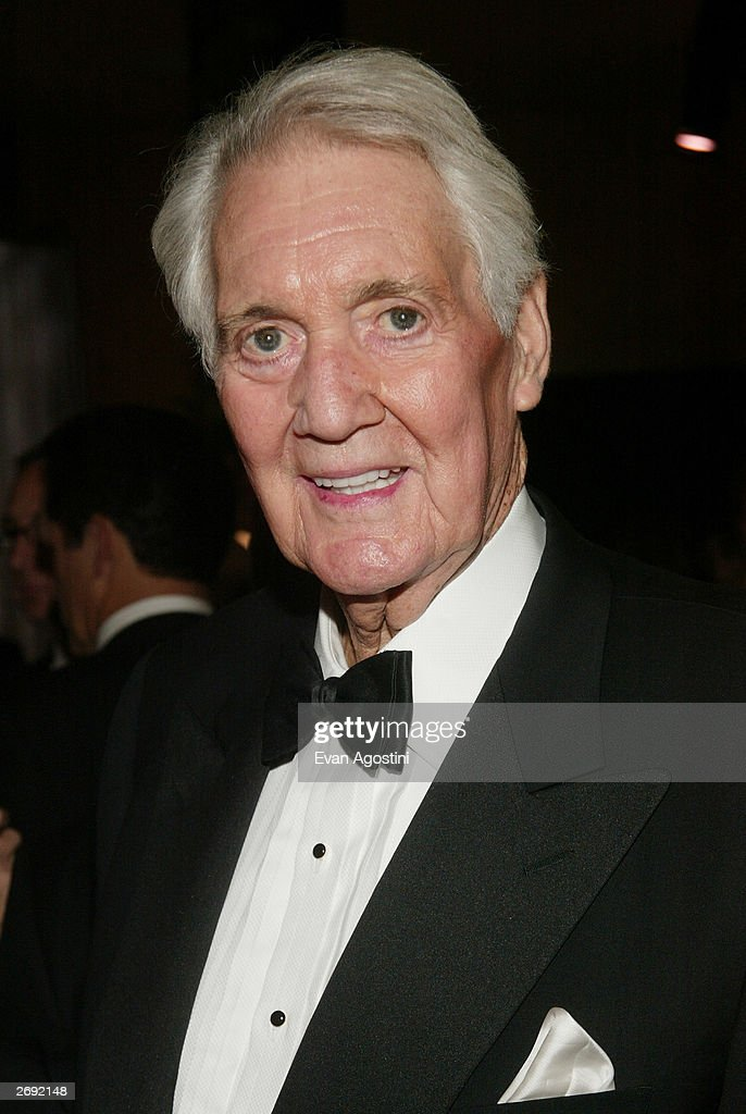 Pat Summerall attends the cocktail party for the 'CBS at 75' television gala at the Hammerstein Ballroom November 2, 2003 in New York City.